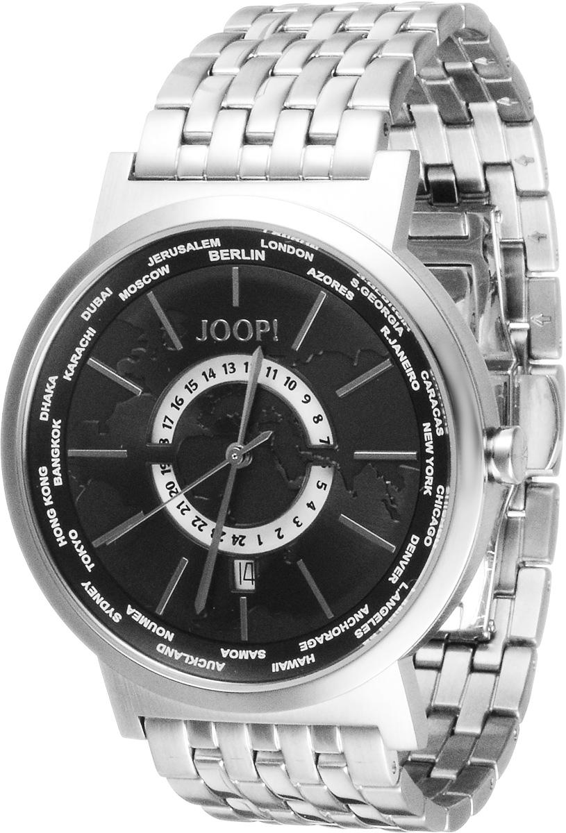Часы мужские наручные JOOP!, цвет: серебристый. JP100222F01JP100222F01Наручные мужские часы JOOP! произведены опытными специалистами из материалов самого высокого качества на базе новейших технологий. Часы оснащены точным кварцевым механизмом. Водонепроницаемый корпус часов изготовлен из нержавеющей стали и защищен минеральным стеклом. Стальной браслет имеет имеет удобную застежку клипсу. Часы имеют индикатор даты и второй часовой пояс. Изделие укомплектовано в фирменную коробку с названием бренда.