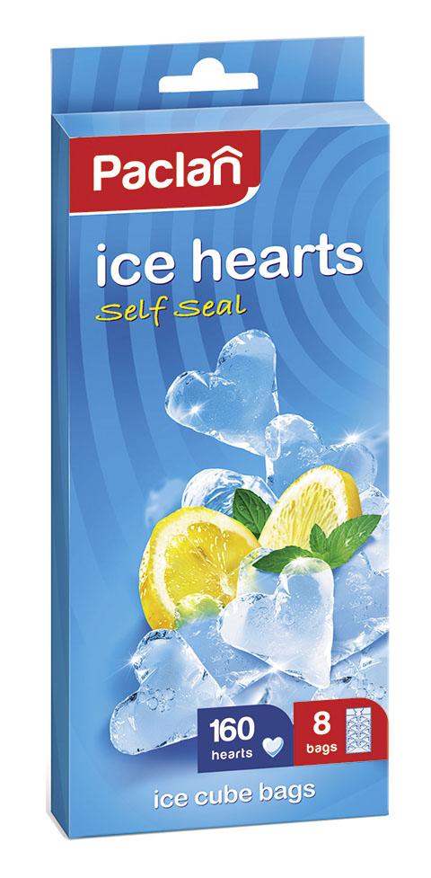 Пакеты для льда Paclan, сердечки, 8 шт135231/1352317/135230/339904Пакетики для приготовления льда Paclan очень удобны в использовании. Лед, приготовленный в пакетах, удобно использовать – просто надавите на пакет. А также лед, приготовленный в пакетиках, всегда будет чистым и без посторонних запахов! Вам надоели обыкновенные кубики льда? Теперь можете сделать их в форме сердечек. А если в воду добавите, например, малиновый сироп, то сердечки будут красными. Можете удивить своих домашних, знакомых и друзей.