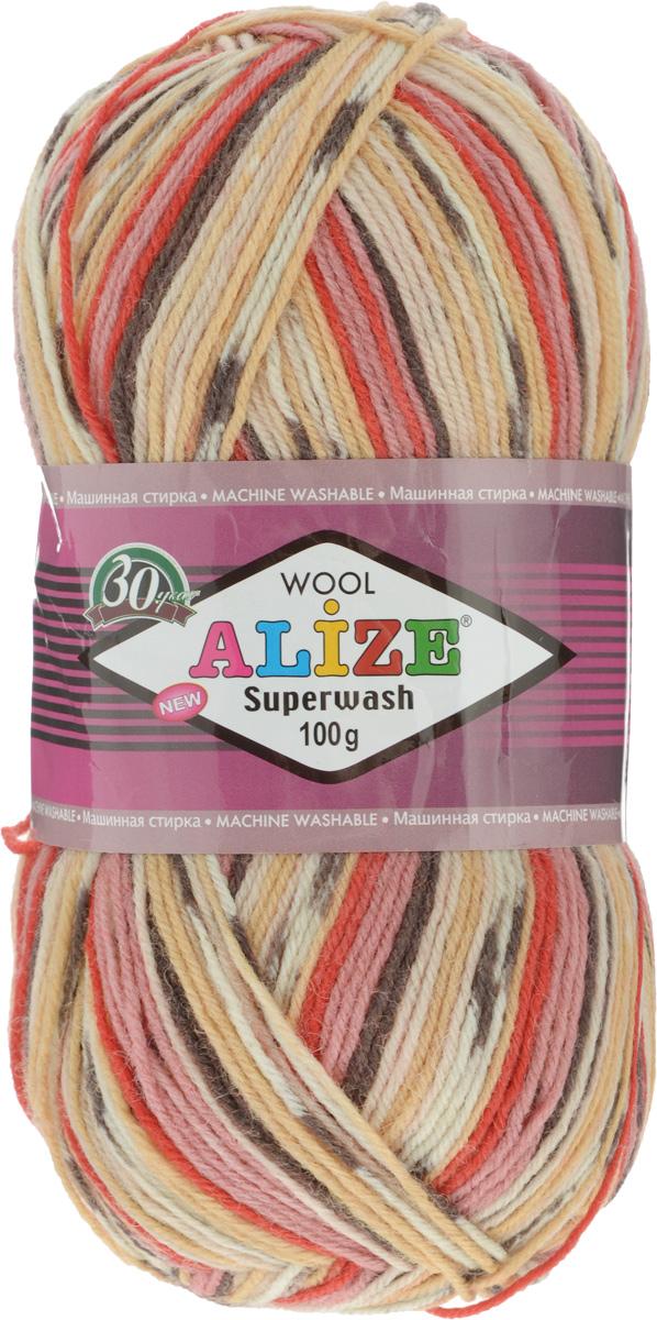 Пряжа для вязания Alize Superwash, цвет: бежевый, красный, розовый (2699), 420 м, 100 г, 5 шт549365_2699Пряжа для вязания Alize Superwash изготовлена из 75% шерсти и 25% полиамида. Пряжа упругая, эластичная, теплая, уютная и не колется, что очень подходит для детей и взрослых. Тонкая нитка прекрасно подойдет для вязки легких, но в тоже время теплых вещей. Пряжа легко распускается и перевязывается несколько раз, не деформируясь и не влияя на вид изделия. Натуральная шерстяная нить, обеспечивает изделию прекрасную форму. Рекомендуется ручная стирка при температуре 30°C. Рекомендуемый размер спиц 2-4 мм и крючка 1-3 мм. Состав: 75% шерсть, 25% полиамид.