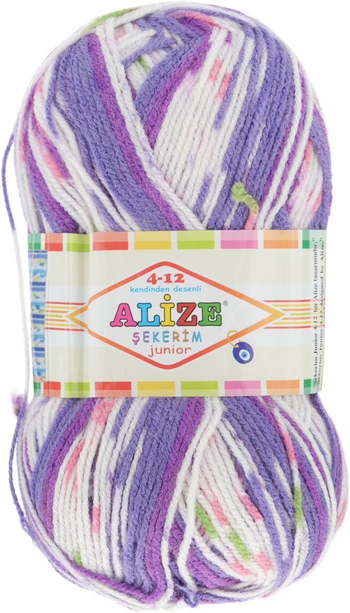 Пряжа для вязания Alize Sekerim Junior, цвет: сиреневый, белый, розовый (719), 320 м, 100 г, 5 шт364082_719Пряжа для вязания Alize Sekerim Junior изготовлена из акрила. Фантазийная пряжа для ручного вязания отлично подойдет для детских вещей. Ниточка мягкая и приятная на ощупь. Подходит для вязания спицами и крючком. Рекомендованные спицы 3-4 мм и крючок для вязания 2-4 мм. Состав: 100% акрил.