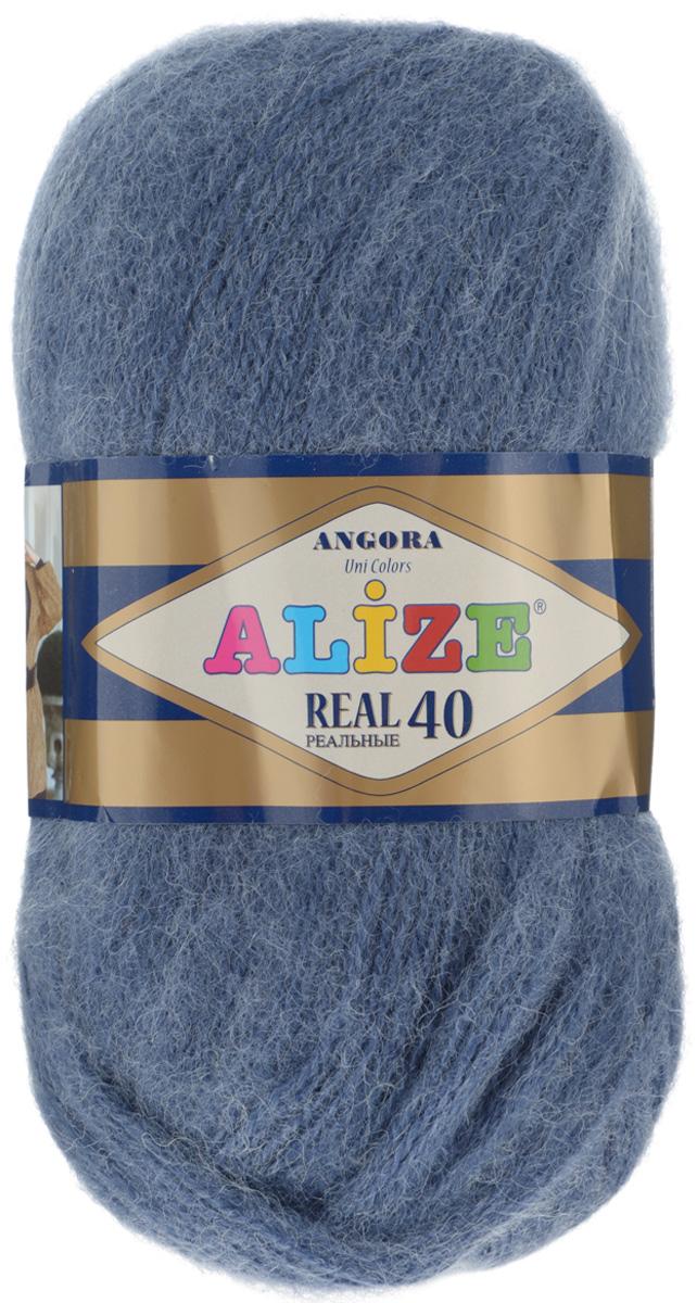 Пряжа для вязания Alize Angora Real, цвет: сизый (411), 480 м, 100 г, 5 шт551390_411Пряжа Alize Angora Real - это ровная, тонкая и пушистая нить, изготовленная из 60% акрила и 40% шерсти. Она не вытягивается, достаточно прочная и крепкая. Такая пряжа идеально подойдет для вязания зимних вещей (шарфов, жилетов, пуловеров), с различными ажурными узорами. Вещи, связанные из этой пряжи, хорошо и долго носятся, не выгорают и не линяют. Предназначена для ручного вязания спицами и крючком. Рекомендуемый размер спиц: № 2,5-5 мм, Рекомендованный размер крючка: № 1-4 мм. Состав: 60% акрил, 40% шерсть.