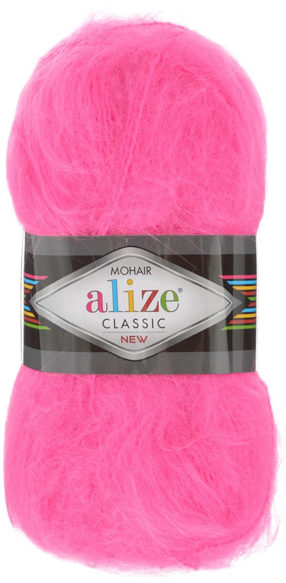 Пряжа для вязания Alize Mohair Classik New, цвет: розовый неон (157), 200 м, 100 г, 5 шт582105_157Пряжа Alize Mohair Classik New, выполненная из мохера и акрила, тонкая, мягкая, деликатная нить, хорошо скрученная. Отлично подходит для опытных вязальщиц и для начинающих рукодельниц. Легкая и гибкая пряжа для вязания придает готовым вещам практичность. Высококачественная пряжа равномерно окрашена и не линяет. Прекрасно подходит для взрослой и детской зимней одежды. Состав: 25% мохер, 24% шерсть, 51% акрил. Рекомендованные спицы № 5-7, крючок № 2-4.