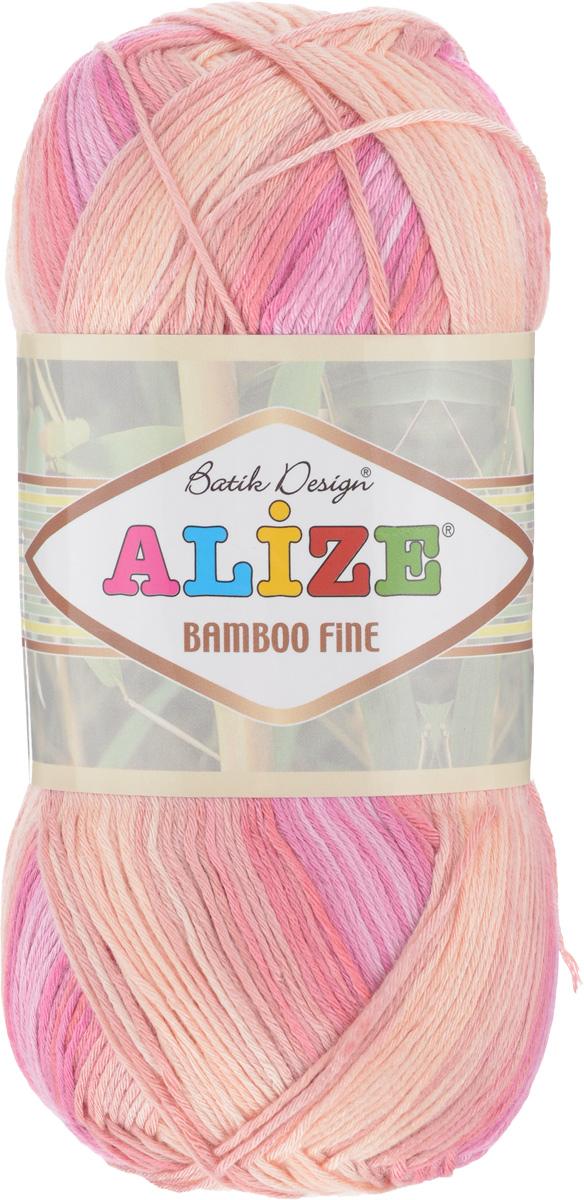 Пряжа для вязания Alize Bamboo Fine, цвет: фуксия, розовый, телесный (3682), 440 м, 100 г, 5 шт688986_3682Пряжа Alize Bamboo Fine подходит для ручного вязания детям и взрослым. Пряжа приятная на ощупь, хорошо лежит в полотне. Изделия из такой нити получаются мягкие и красивые. Рекомендованные спицы 2,5-3,5 мм и крючок для вязания 1-3 мм. Состав: 100% бамбук.