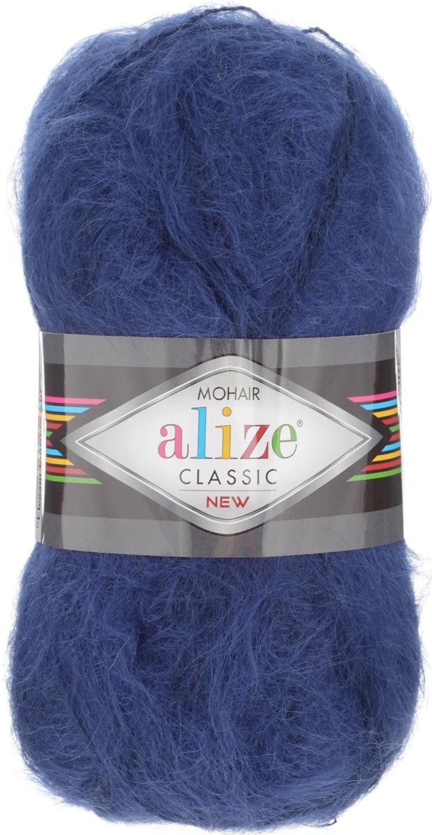 Пряжа для вязания Alize Mohair Classik New, цвет: темно-синий (395), 200 м, 100 г, 5 шт582105_395Пряжа Alize Mohair Classik New, выполненная из мохера и акрила, тонкая, мягкая, деликатная нить, хорошо скрученная. Отлично подходит для опытных вязальщиц и для начинающих рукодельниц. Легкая и гибкая пряжа для вязания придает готовым вещам практичность. Высококачественная пряжа равномерно окрашена и не линяет. Прекрасно подходит для взрослой и детской зимней одежды. Состав: 25% мохер, 24% шерсть, 51% акрил. Рекомендованные спицы № 5-7, крючок № 2-4.