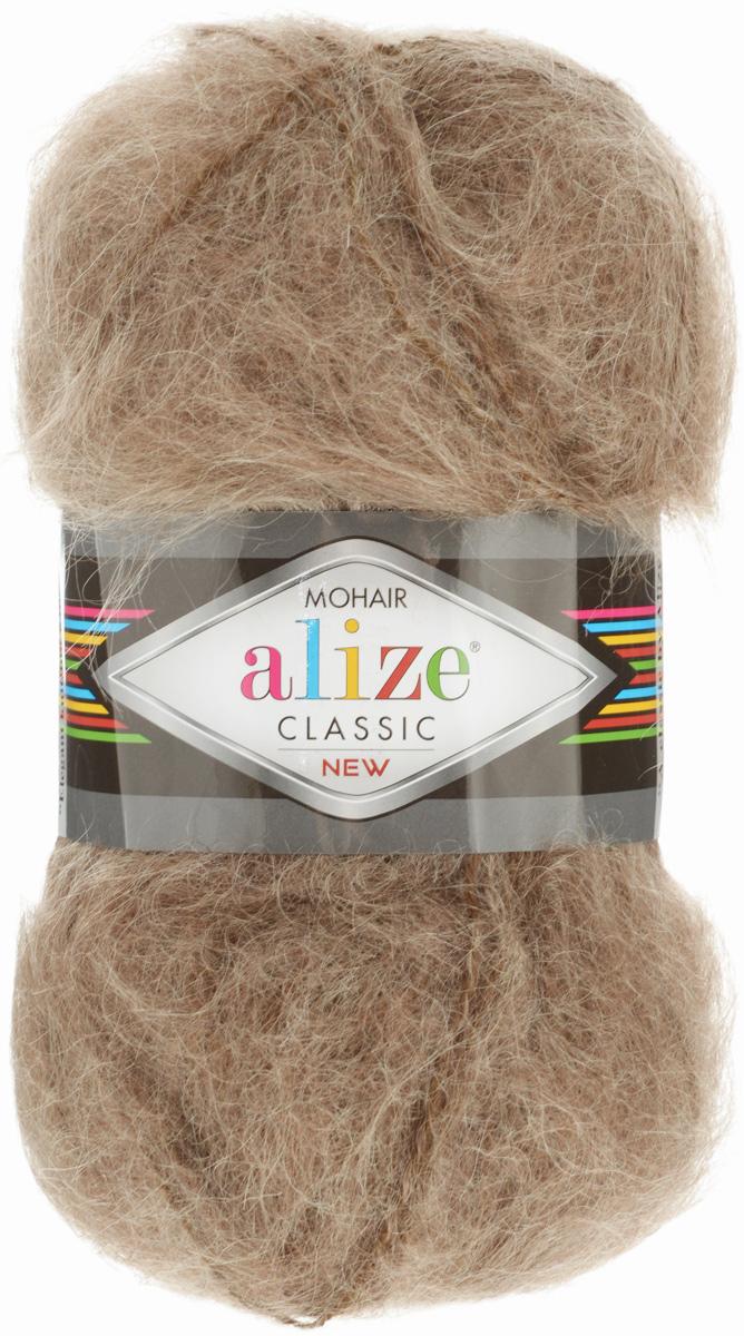 Пряжа для вязания Alize Mohair Classik New, цвет: светло-коричневый (7), 200 м, 100 г, 5 шт582105_7Пряжа Alize Mohair Classik New, выполненная из мохера и акрила, тонкая, мягкая, деликатная нить, хорошо скрученная. Отлично подходит для опытных вязальщиц и для начинающих рукодельниц. Легкая и гибкая пряжа для вязания придает готовым вещам практичность. Высококачественная пряжа равномерно окрашена и не линяет. Прекрасно подходит для взрослой и детской зимней одежды. Состав: 25% мохер, 24% шерсть, 51% акрил. Рекомендованные спицы № 5-7, крючок № 2-4.
