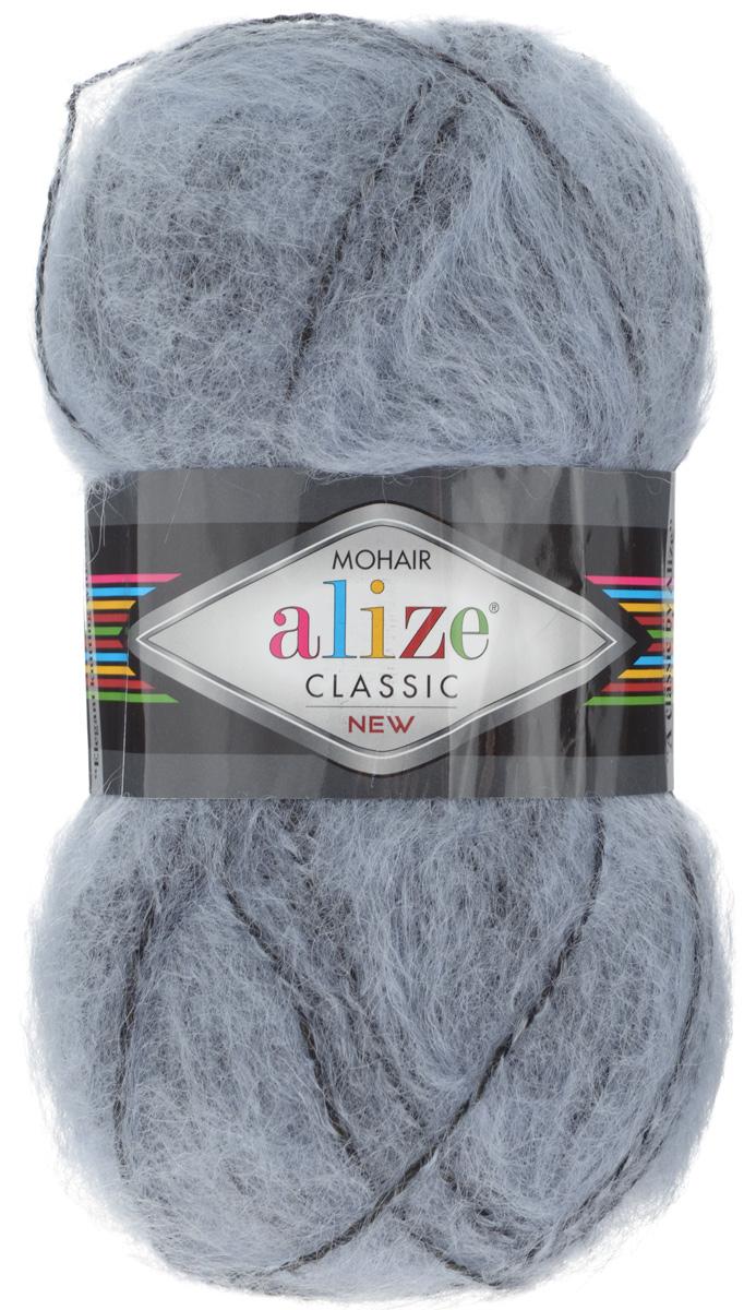 Пряжа для вязания Alize Mohair Classik New, цвет: грифельный, черный (51-60), 200 м, 100 г, 5 шт582105_51-60Пряжа Alize Mohair Classik New, выполненная из мохера и акрила, тонкая, мягкая, деликатная нить, хорошо скрученная. Отлично подходит для опытных вязальщиц и для начинающих рукодельниц. Легкая и гибкая пряжа для вязания придает готовым вещам практичность. Высококачественная пряжа равномерно окрашена и не линяет. Прекрасно подходит для взрослой и детской зимней одежды. Состав: 25% мохер, 24% шерсть, 51% акрил. Рекомендованные спицы № 5-7, крючок № 2-4.