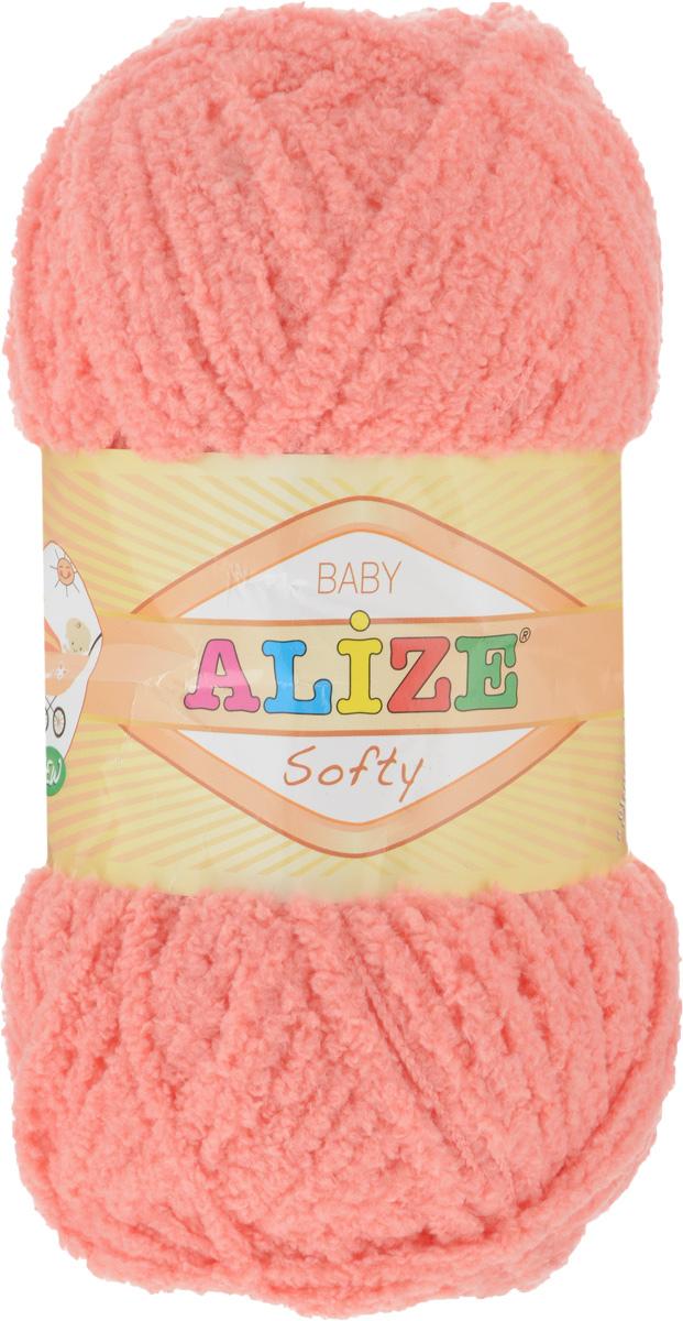 Пряжа для вязания Alize Softy, цвет: лососево-розовый (619), 115 м, 50 г, 5 шт694530_619Пряжа для вязания Alize Softy изготовлена из микрополиэстера. Фантазийная плюшевая пряжа для ручного вязания прекрасно подойдет для детской одежды. Ниточка мягкая и приятная на ощупь. Подходит для вязания спицами и крючком. Рекомендованные спицы 3-5 мм и крючок для вязания 2-4 мм. Комплектация: 5 мотков.