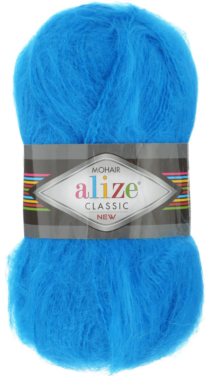 Пряжа для вязания Alize Mohair Classik New, цвет: бирюзовый (16), 200 м, 100 г, 5 шт582105_16Пряжа Alize Mohair Classik New, выполненная из мохера и акрила, тонкая, мягкая, деликатная нить, хорошо скрученная. Отлично подходит для опытных вязальщиц и для начинающих рукодельниц. Легкая и гибкая пряжа для вязания придает готовым вещам практичность. Высококачественная пряжа равномерно окрашена и не линяет. Прекрасно подходит для взрослой и детской зимней одежды. Состав: 25% мохер, 24% шерсть, 51% акрил. Рекомендованные спицы № 5-7, крючок № 2-4.