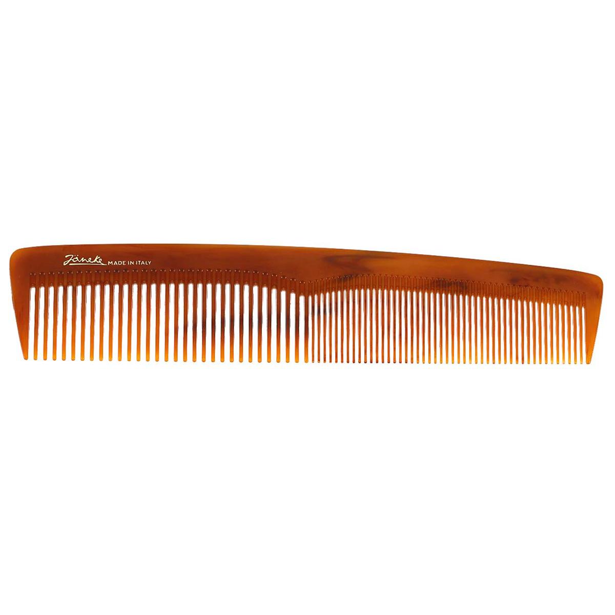 Janeke Расческа для волос. 78803577811Марка Janeke – мировой лидер по производству расчесок, щеток, маникюрных принадлежностей, зеркал и косметичек. Марка Janeke, основанная в 1830 году, вот уже почти 180 лет поддерживает непревзойденное качество своей продукции, сочетая новейшие технологии с традициями ста- рых миланских мастеров. Все изделия на 80% производятся вручную, а инновационные технологии и современные материалы делают продукцию марки поистине уникальной. Стильный и эргономичный дизайн, яркие цветовые решения – все это приносит истин- ное удовольствие от использования аксессуаров Janeke. Пластиковая линия из высококачественного сырья, большое разнообразие моделей и цветов, кончик расчески специально закруглен, чтобы предотвратить разрыв волоса