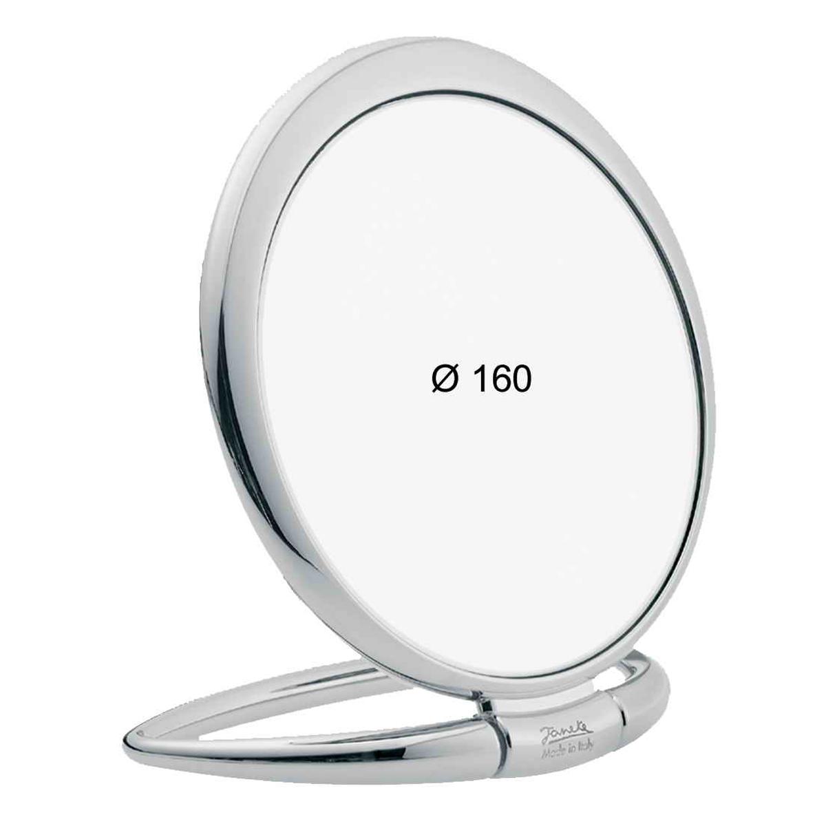 Janeke Зеркало настольное D160, линзы ZEISS, хромированное, CR443.3.587327Марка Janeke – мировой лидер по производству расчесок, щеток, маникюрных принадлежностей, зеркал и косметичек. Марка Janeke, основанная в 1830 году, вот уже почти 180 лет поддерживает непревзойденное качество своей продукции, сочетая новейшие технологии с традициями ста- рых миланских мастеров. Все изделия на 80% производятся вручную, а инновационные технологии и современные материалы делают продукцию марки поистине уникальной. Стильный и эргономичный дизайн, яркие цветовые решения – все это приносит истин- ное удовольствие от использования аксессуаров Janeke. Зеркала для дома итальянской марки Janeke, изготовленные из высококачественных материалов и выполненные в оригинальном стильном дизайне, дополнят любой интерьер. Односторонние или двусторонние, с увеличением и без, на красивых и удобных подс- тавках – зеркала Janeke прослужат долго и доставят истинное удо- вольствие от использования