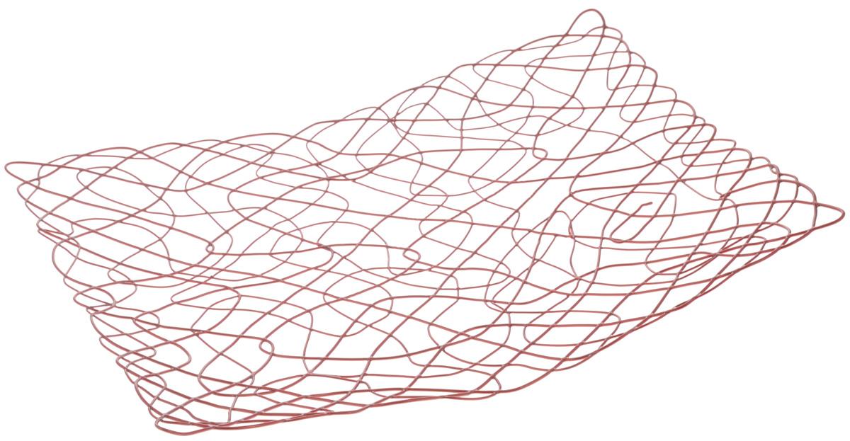Фруктовница Guterwahl Паутинка, 32 х 25 х 3 смYSH-9-003Оригинальная фруктовница Guterwahl Паутинка, изготовленная из нержавеющей стали, идеально подходит для хранения и красивой сервировки любых фруктов. Современный дизайн фруктовницы идеально впишется в интерьер вашей кухни. Изделие рекомендуется мыть вручную с применением любых неабразивных моющих средств. Не рекомендуется использование металлических щеток для чистки. Размер фруктовницы: 32 х 25 см. Высота: 3 см.