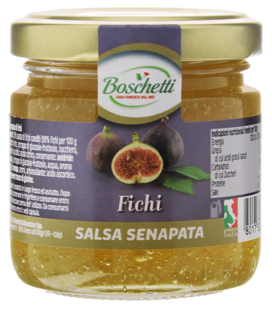 Boschetti Fichi соус сальса, 120 гSP#6435AYВ основе горчичного соуса Boschetti Fichi лежат горчица и фрукты, подобранные итальянскими кулинарами в нужных пропорциях. Соус имеет в своем составе глюкозный сироп, в результате чего он приобрел мягкую кремовую консистенцию. Уникальное сочетание инжира и горчицы волею итальянских мастеров дает неповторимый вкус. Вкусовая гамма Boschetti наполнена итальянским солнцем и дивным ароматом. Соус может стать основой для множества рецептов. Кроме того, его можно использовать как дополнение к уже готовому блюду. Более всего Boschetti оригинально смотрится на сэндвиче или тартинке. С ним даже обычная утренняя яичница станет деликатесом, а традиционное утреннее чаепитие превратится в полноценный и вкусный завтрак. Состав: паста инжирная с сахаром 50% (90% инжира на 100 г готового продукта: сироп глюкозы- фруктозы, сахар, регулятор кислотности (лимонная кислота), консервант (ангидрид), сироп глюкозы-фруктозы, вода, натуральный ...