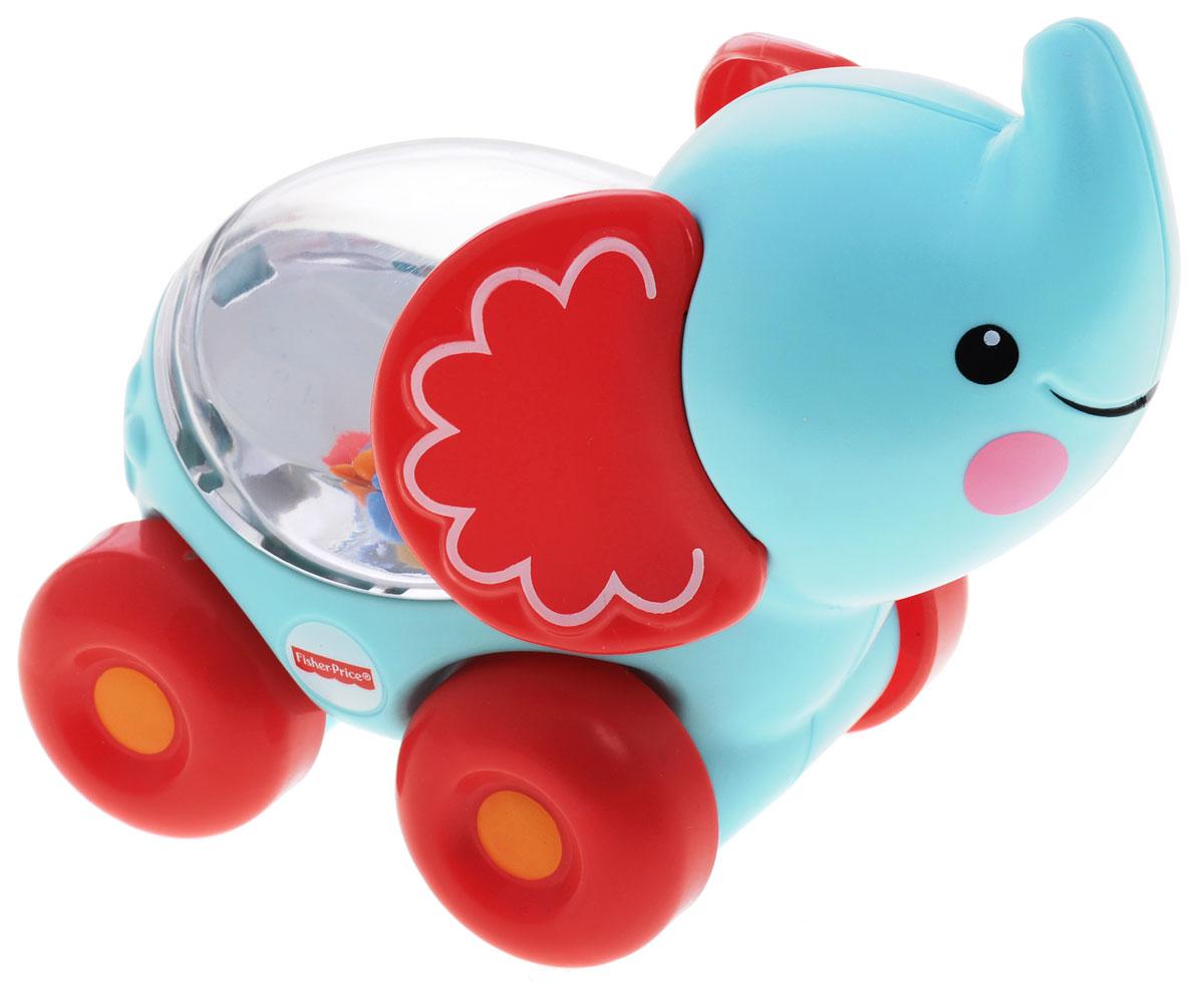 Fisher Price Развивающая игрушка Слоник с прыгающими шарикамиBGX29_CMV98Развивающая игрушка Fisher Price Слоник с прыгающими шариками надолго займет внимание вашего малыша. Игрушка выполнена из безопасного пластика бирюзового цвета в виде забавного слоника на четырех колесиках и предназначена для детей возрастом 6 до 36 месяцев. Внутри игрушки под прозрачным окошком находятся красочные шарики, которые весело прыгают в то время, когда ребенок толкает слона вперед или назад. Размер игрушки идеален для захвата детской ручкой. Игрушка развивает общую моторику, любознательность и тягу к новым открытиям, сенсорные навыки.