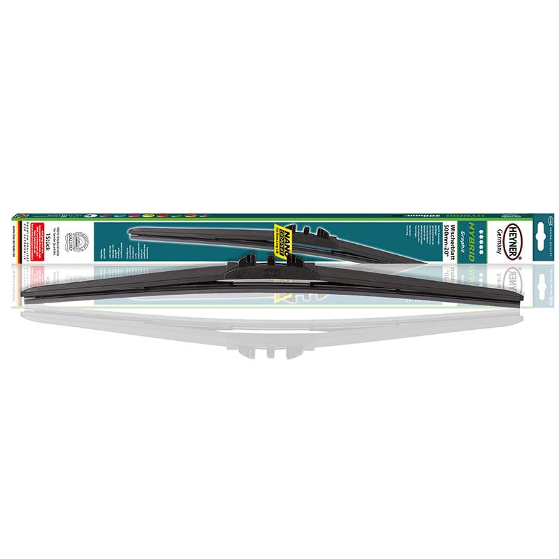Щетка стеклоочистителя Heyner Hybrid, 45 см, 1 шт028000Щетка стеклоочистителя Heyner Hybrid может применяться в любое время года. Современная гибридная технология объединяет аэродинамичный профиль бескаркасных щеток и идеальный контакт с лобовым стеклом классической каркасной щетки. Резиновые части выполнены из 100% натурального каучука.