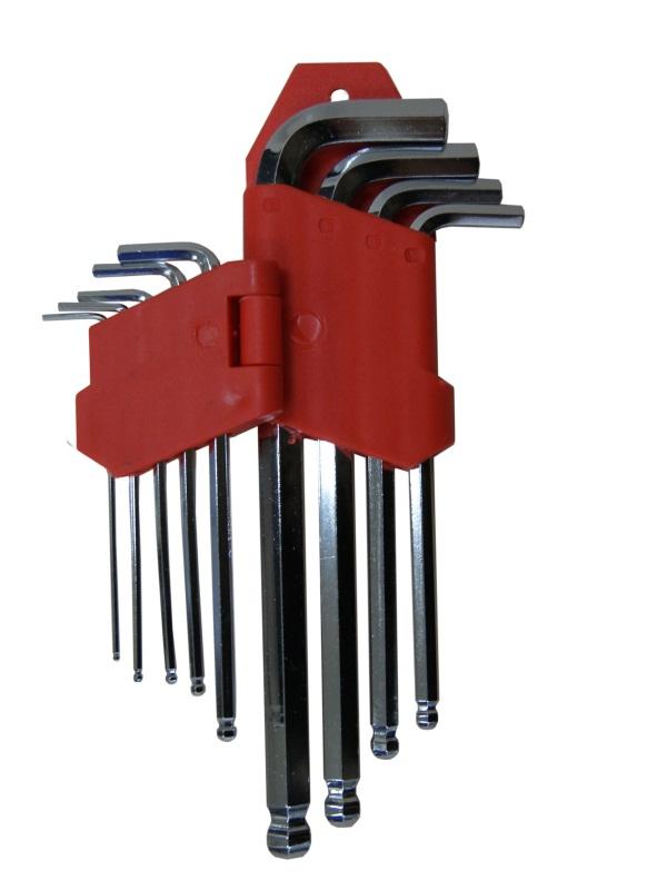 Набор ключей шестигранных Skybear, с шариковой головкой, 9 шт,1,5-10 мм, средние311521Набор ключей шестигранных с шариковой головкой, 9 шт. 1.5 - 10 мм, средние