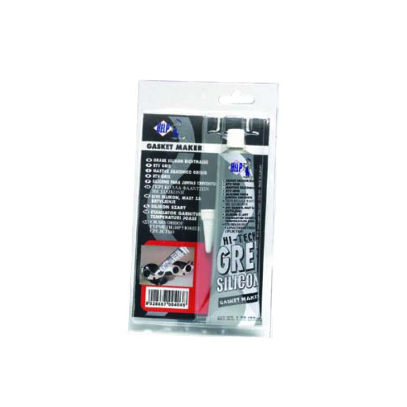Герметик силиконовый высокотемпературный SuperHelp, цвет: серый, 85 мл404Герметик силиконовый высокотемпературный серый 85мл. Имеет термостойкость от -62 до +315 градусов. Предназначен для востановления и замены большинства автомобильных прокладок, склеивания деталей из металла, резины, бумаги, ткани, асбестовых уплотнителей, войлока, дерева.Образует эластичную, долговечную, стойкую к агрессивной среде прокладку.