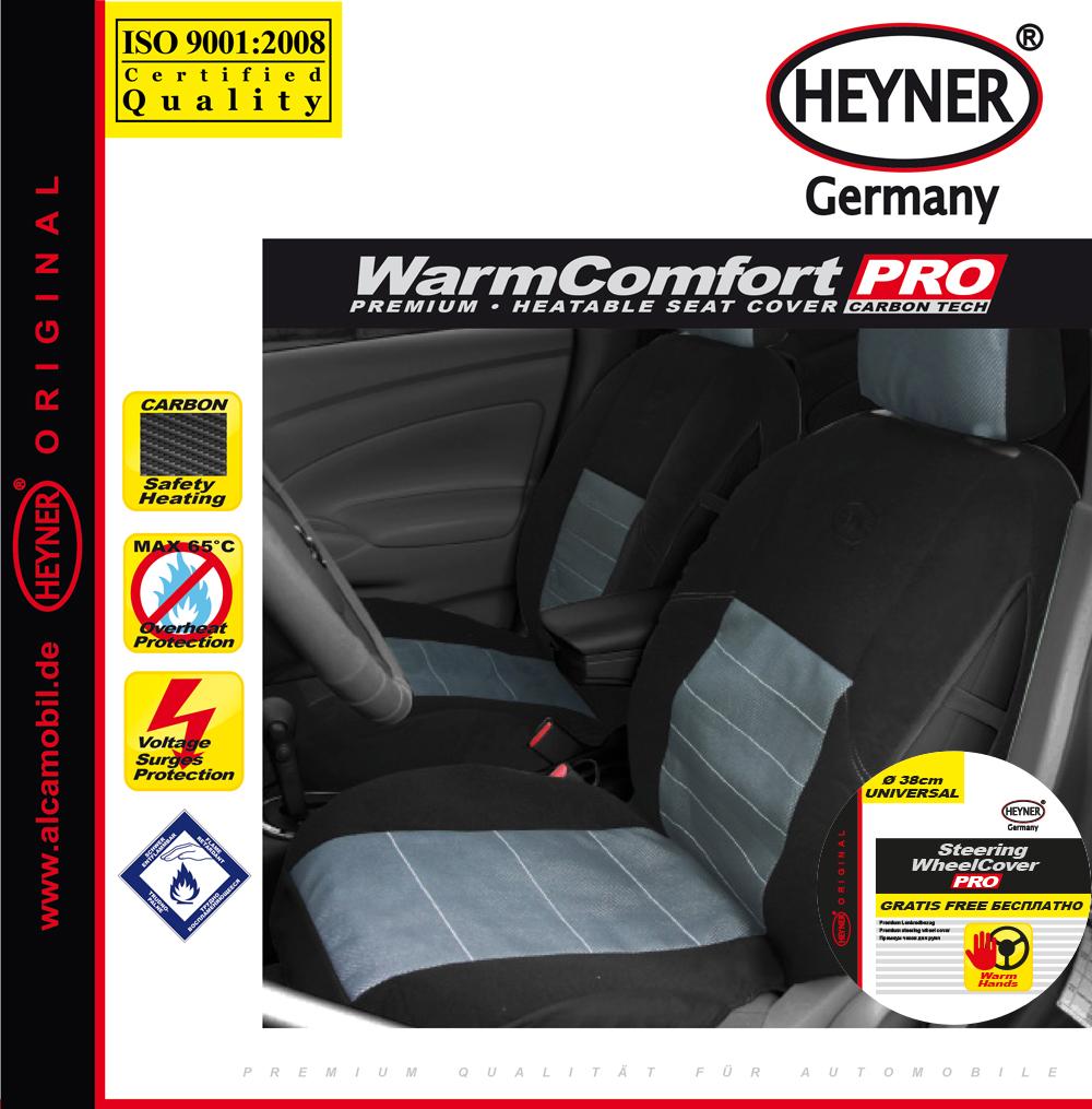Чехол автомобильный Heyner Карбон, с подогревом, цвет: черный, 12V505600Чехол автомобильный Heyner Карбон предназначен для сиденья водителя. Чехол выполнен из прочного материала и снабжен большой поверхностью подогрева. Три режима подогрева обеспечивают комфорт во время эксплуатации. Нагревательные элементы устойчивы к поломке. Чехол снабжен кабелем для подключения к прикуривателю. Защита от перегрева гарантирует долгий срок службы. Длина кабеля: 140 см. Напряжение: 12V.