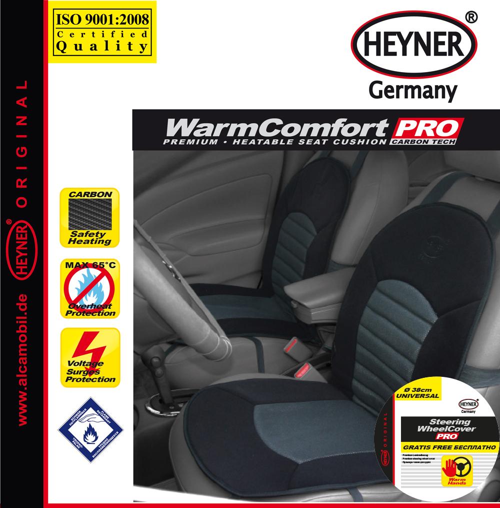 Накидка на сиденье Heyner Карбон, с подогревом, цвет: черный, 12V506600Накидка на сиденье Heyner Карбон предназначен для сидения водителя. Чехол выполнен из прочного материала и снабжен большой поверхностью подогрева. Три режима подогрева обеспечивают комфорт во время эксплуатации. Нагревательные элементы устойчивы к поломке. Чехол снабжен кабелем для подключения к прикуривателю. Защита от перегрева гарантирует долгий срок службы. Длина кабеля: 140 см. Напряжение: 12V.