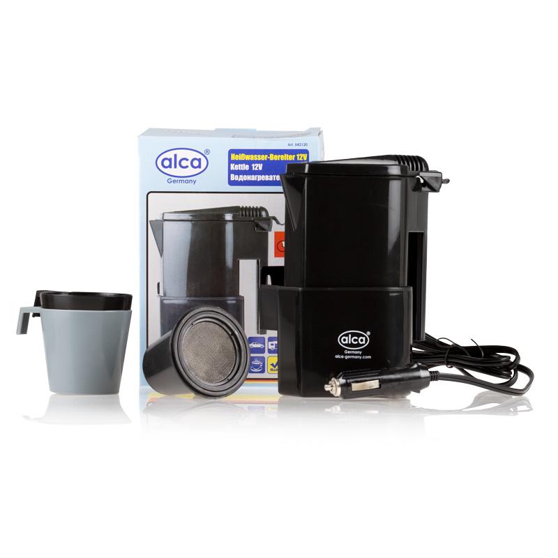 Автокофеварка Alca, 12 В542120Автокофеварка 12 В, объём 2 чашки. 0.4 л., в комплекте кофеварка и 2 стакана, 1 фильтр.
