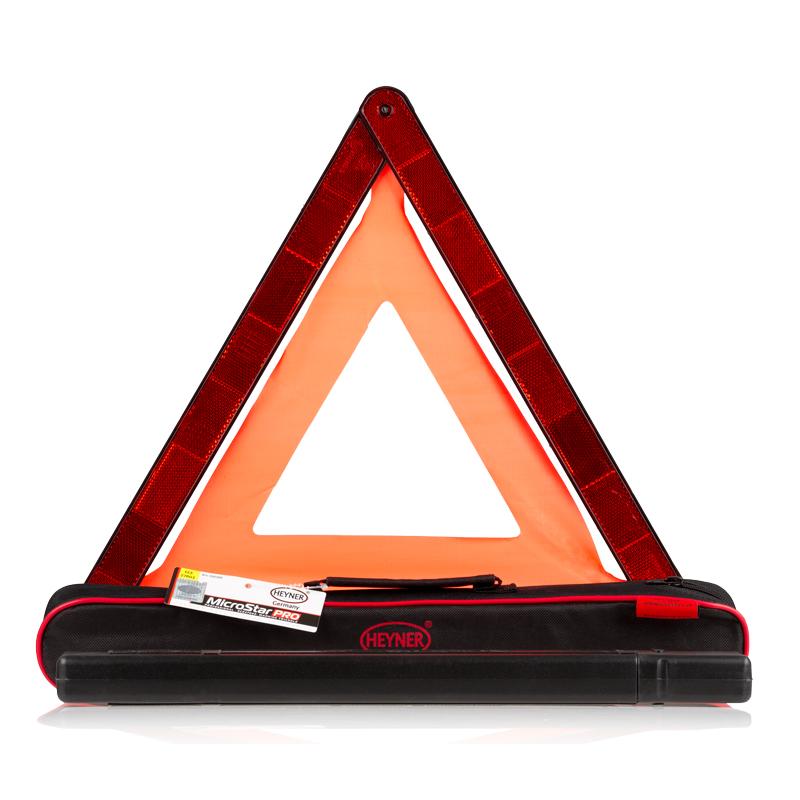 Знак аварийной остановки Heyner550300Знак аварийной остановки Heyner выполнен из прочного пластика. Гарантированная безопасность обеспечивается качественным отражением даже ночью. Основание повышает устойчивость знака на дорожном покрытии. Компактно складывается. Для хранения предусмотрен специальный футляр.