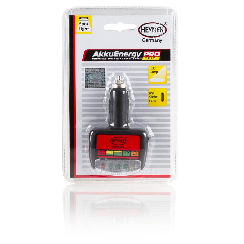 Тестер АКБ 2 в 1 Heyner, с подсветкой торпеды573100Тестер АКБ 2 в 1 Heyner - это очень полезный прибор, который с помощью индикаторов показывает уровень заряда в реальном времени. Снабжен подсветкой торпеды. Работает от автомобильного прикуривателя. Проверка работоспособности автомобильной батареи - это обязательная процедура для тех автовладельцев, которые не хотят, чтобы их аккумулятор преждевременно вышел из строя. Поэтому время от времени необходимо проводить эту процедуру в рамках технического обслуживания машины.