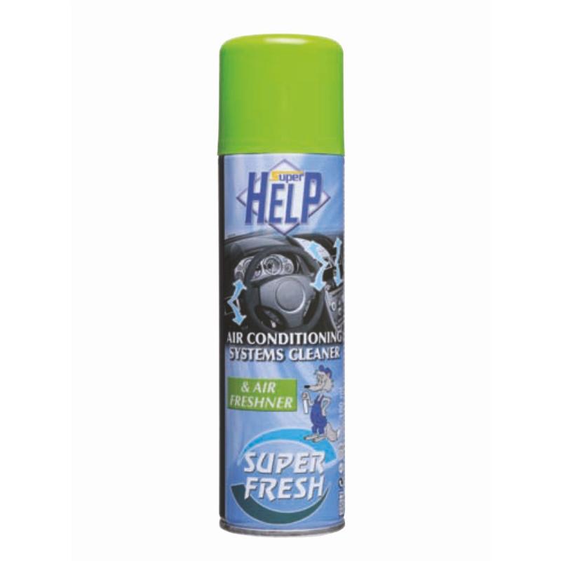 Очиститель системы кондиционирования SuperHelp, 150 мл60150Очиститель системы кондиционирования 150мл. Удаляет неприятные запахи, а так же предотвращает повторное появление запахов вызванных загрязнением испарителя в системе кондиционирования воздуха. Создает чистоту и свежесть в салоне автомобиля. Уничтожает плесень, грибок и бактерии, являющиеся основной причиной появления неприятных запахов. Рекомендуем: Завести автомобиль и включить систему кондиционирования в режиме циркуляции воздуха. Открыть все воздушные клапаны и убедиться, что все окна закрыты. Установить аэрозоль спереди перед пассажирским сиденьями направить распылитель в центр салона автомобиля. Нажать клапан до упора и его фиксации до полного опустошения аэрозоля. Избегать попадания струи в глаза и на кожные покровы. Выйти из автомобиля, плотно закрыть все двери. Подождать около 10 минут для обеспечения полной циркуляции дезинфицирующего состава по салону.