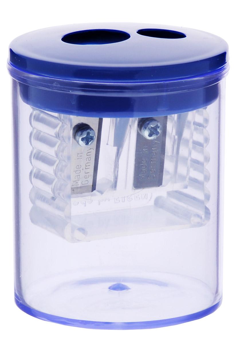 Herlitz Точилка-бочонок с 2 отверстиями цвет синий 8680100_синий