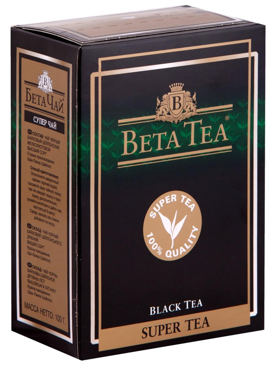 Beta Tea Super Tea черный листовой чай, 100 г4607014860215Мелколистовой чай Beta Tea Super Tea с лучших плантаций Цейлона подарит вам блаженство и умиротворение. Насладитесь крепостью и ароматом этого изящного сорта чая.