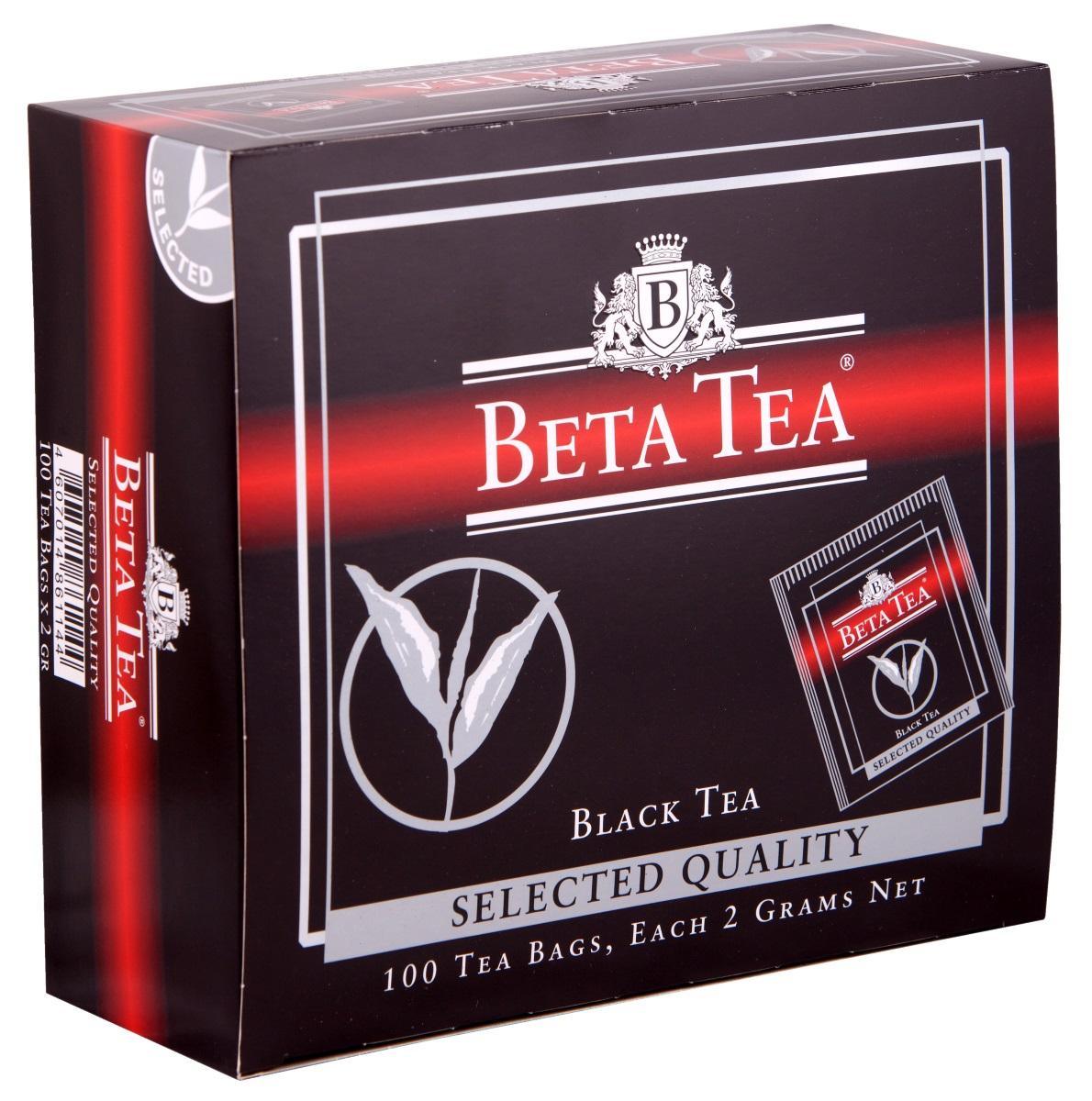 Beta Tea Отборное качество черный чай в пакетиках, 100 шт4607014861144Этот сорт чая поставляют лучшие чайные плантации Шри-Ланки. Любители крепкого чая с терпким вкусом по достоинству оценят Beta Tea Отборное качество.