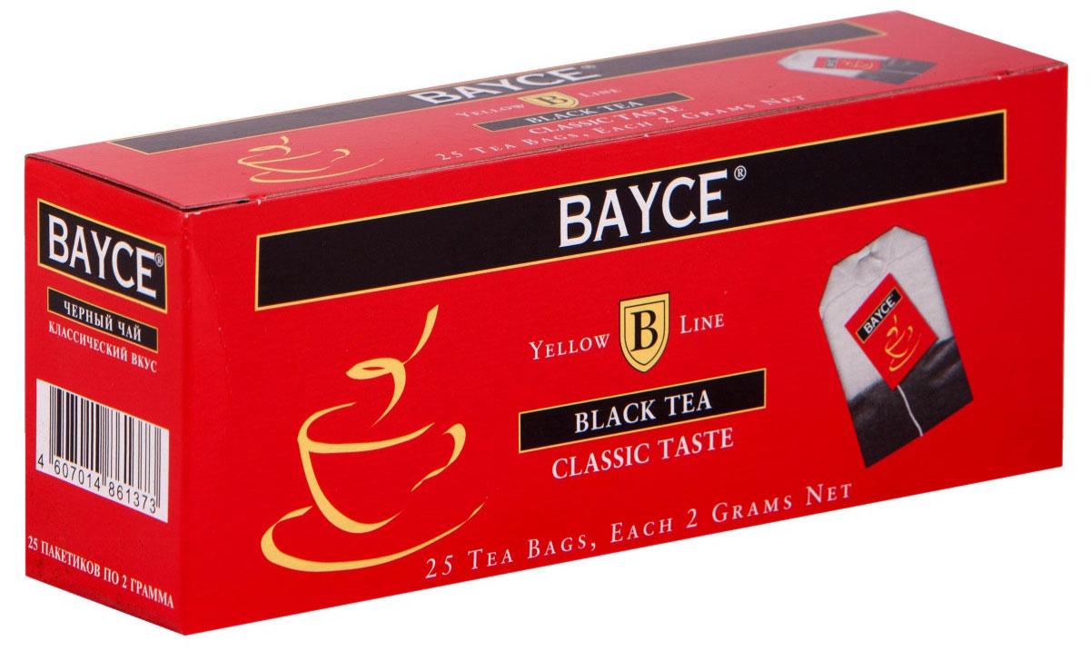 Bayce Классический вкус черный чай в пакетиках, 25 шт