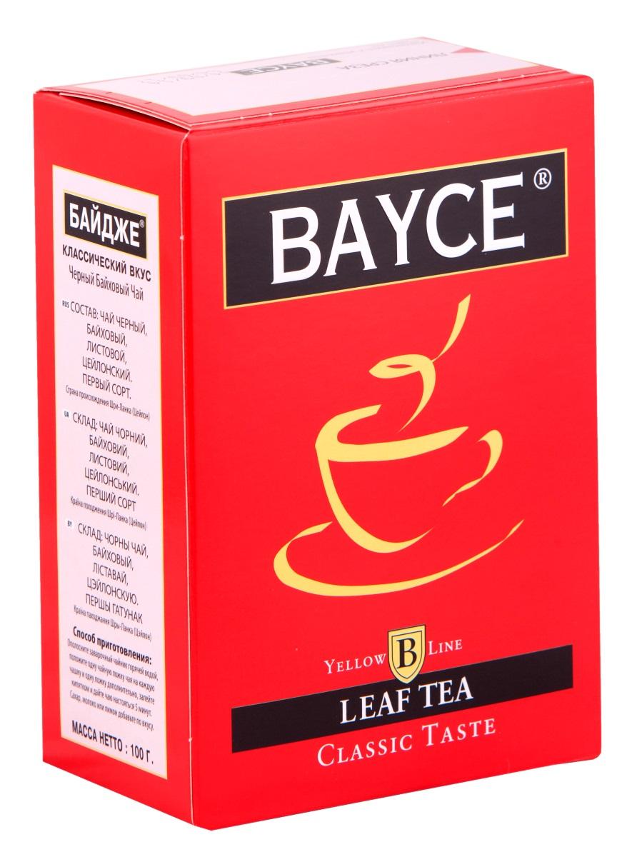 Bayce Классический вкус черный чай, 100 г