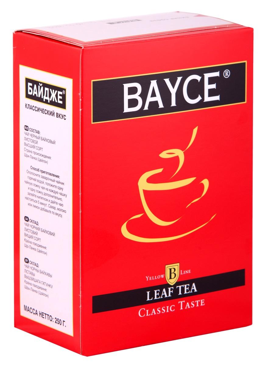 Bayce Классический вкус черный чай, 250 г4607014860802Bayce Классический вкус - превосходный классический чай, собранный на чайных плантациях острова Цейлон. Приятный вкус и целебные свойства делают этот сорт особенно привлекательным.