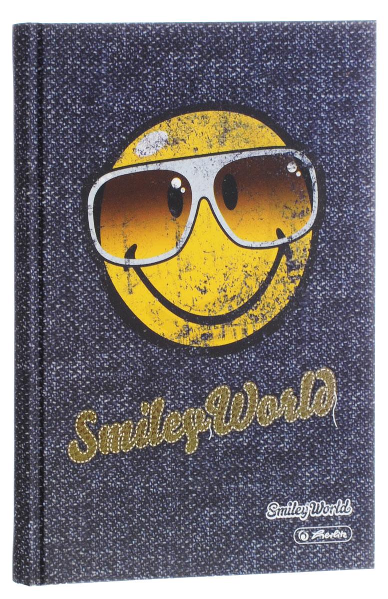 Herlitz Записная книжка Smiley World 96 листов в клетку11261203_Записная книжка Herlitz Smiley World - незаменимый атрибут современного человека, необходимый для рабочих и повседневных записей в офисе и дома. Записная книжка содержит 96 листов формата А5 в клетку. Обложка, выполненная из плотного картона, оформлена изображением забавного смайла в темных очках. Прошитый внутренний блок гарантирует полное отсутствие потери листов. Записная книжка Herlitz Smiley World станет достойным аксессуаром среди ваших канцелярских принадлежностей. Она подойдет как для деловых людей, так и для любителей записывать свои мысли, рисовать скетчи, делать наброски.