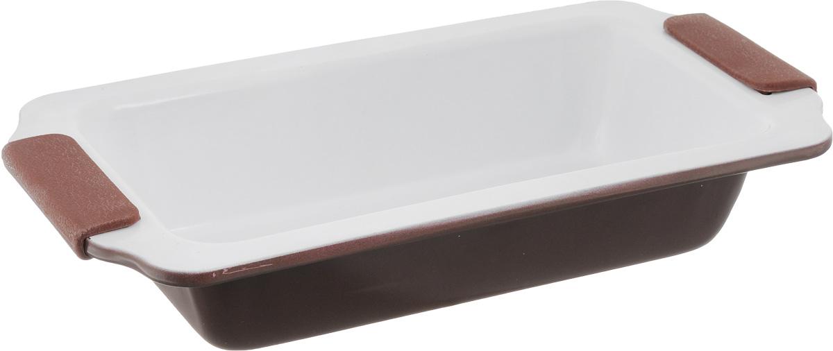 Форма для выпечки Guterwahl, с керамическим покрытием, прямоугольная, 31 х 17 х 6 смEC-S66-CERФорма для выпечки Guterwahl изготовлена из углеродистой стали с керамическим покрытием, благодаря чему пища не пригорает и не прилипает к стенкам посуды. Кроме того, готовить можно с добавлением минимального количества масла и жиров. Керамическое покрытие также обеспечивает легкость мытья. Форма идеально подходит для выпечки кексов, пирогов. Изделие имеет литые ручки с силиконовыми вставками, что существенно облегчает процесс готовки. Не рекомендуется мыть в посудомоечной машине. Внутренний размер формы: 24 х 12 см. Внешний размер формы (с учетом ручек): 31 х 17 см. Высота стенок формы: 6 см.