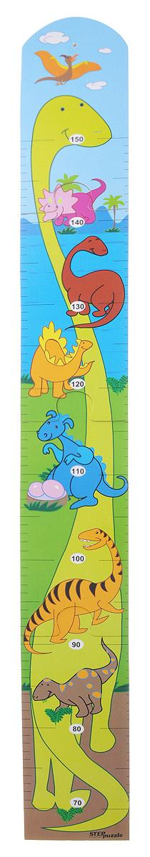 Step Puzzle Ростомер-пазл Динозавры89015_динозаврыРостомер-пазл Step Puzzle Динозавры - это деревянный пазл для измерения роста детей. Состоит из 4 деталей. Ростомер-пазл с забавными динозавриками способствует развитию малыша (яркие картинки и занимательная сборка пазла), помогает наблюдать за ростом ребенка (простой и эффективный способ наблюдения), служит отличным украшением детской. Особенности: идеальная сцепка, экологически чистый материал, гладкие детали.