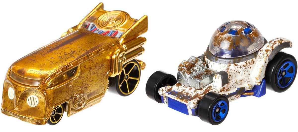 Hot Wheels Star Wars Набор машинок R2-D2 и C-3POCGX02_DTB00Машинки Hot Wheels R2-D2 и C-3PO непременно приведут в восторг вашего малыша. Игрушки изготовлены из высококачественного пластика с элементами из металла в стиле любимых персонажей легендарной саги Звездные воины. Колесики машинок вращаются. Ваш ребенок будет часами играть с этими машинками, придумывая различные истории. Порадуйте его таким замечательным подарком.