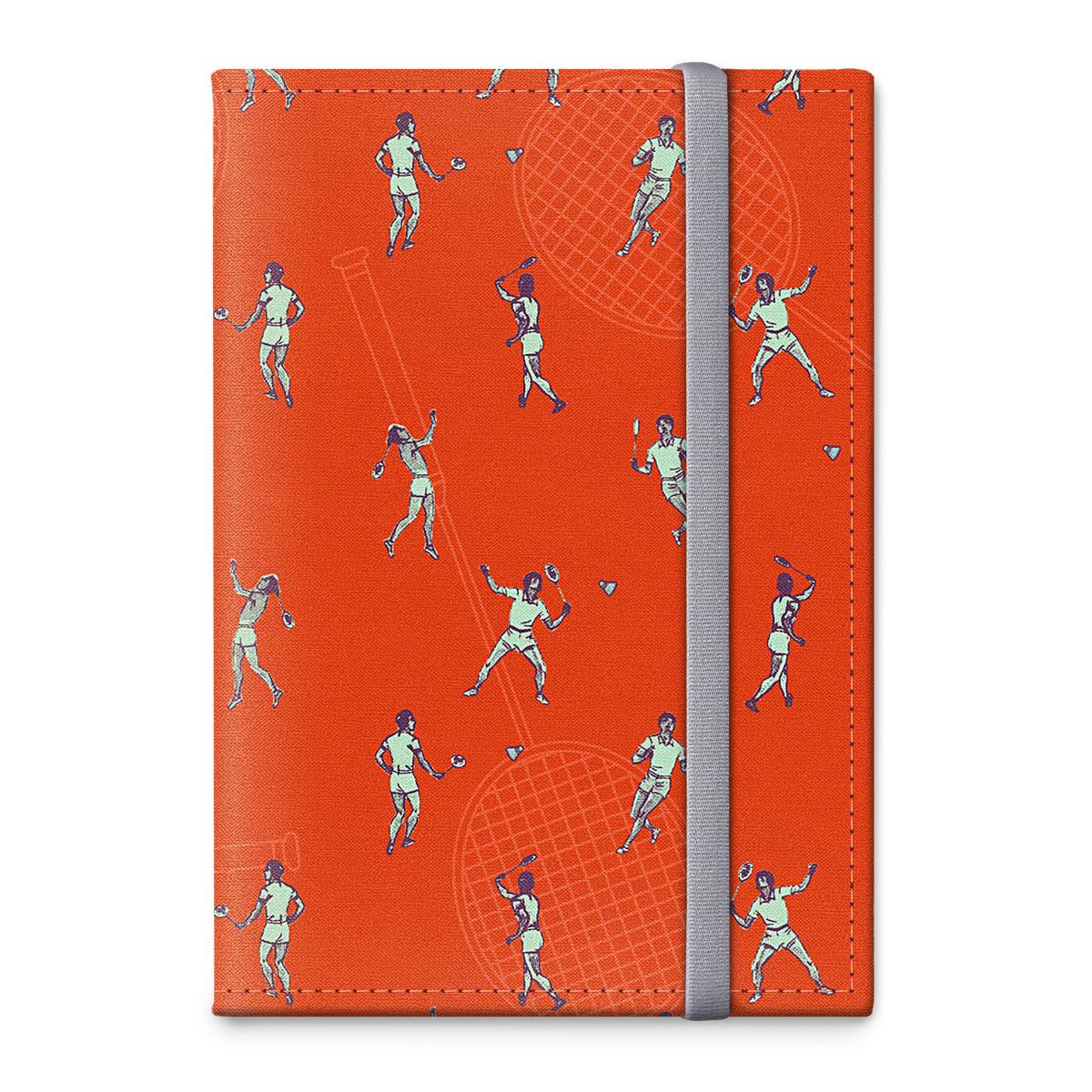 Обложка для паспорта ОРЗ-дизайн Бадминтон, цвет: оранжевый, оранжевый. Орз-0317Орз-0317Обложка на паспорт текстильная с авторским принтом