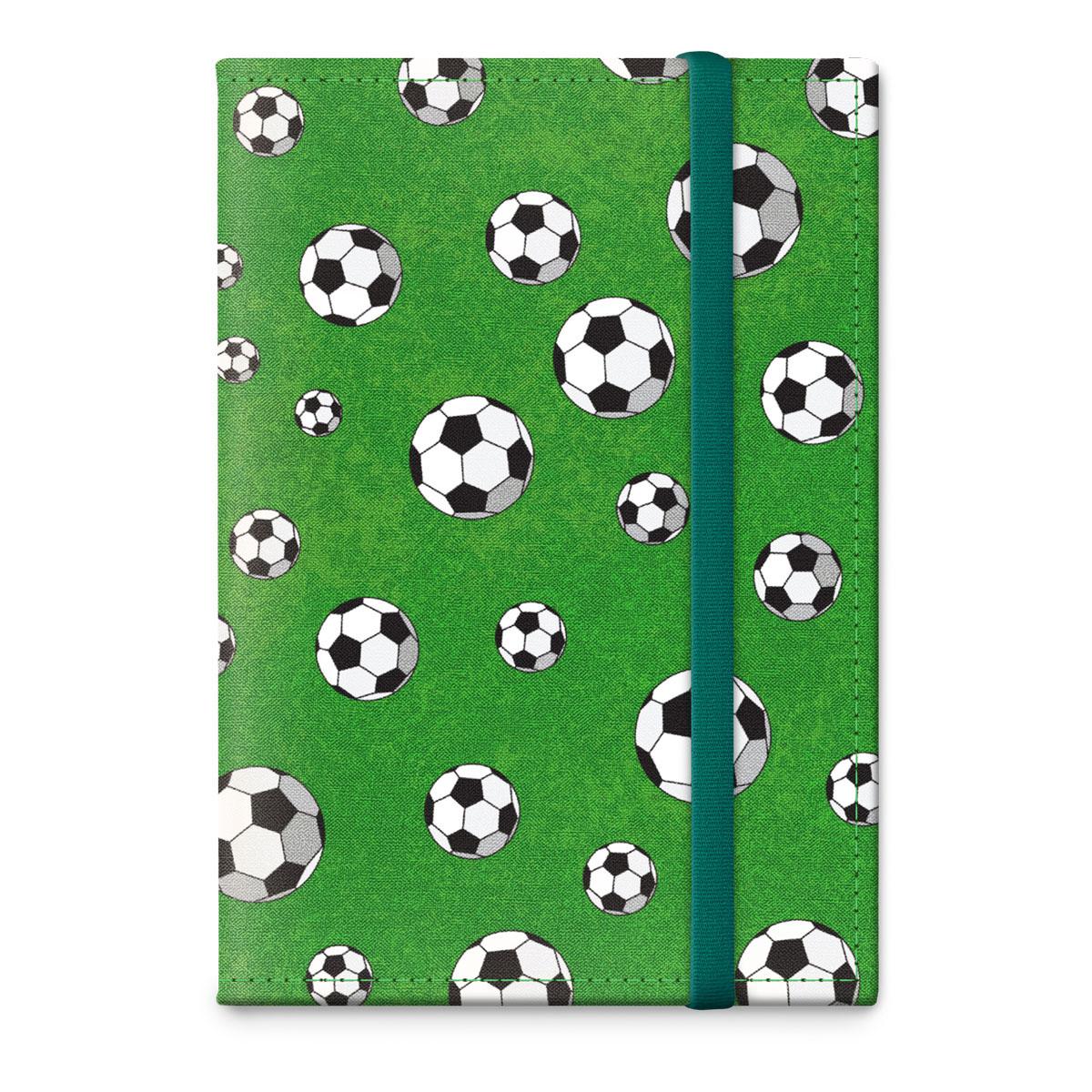 Обложка для паспорта ОРЗ-дизайн Футбол, цвет: зеленый, черный. Орз-0320Орз-0320Обложка на паспорт текстильная с авторским принтом