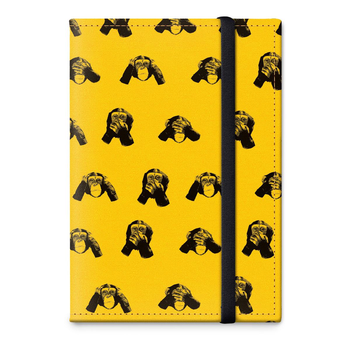 Обложка для паспорта ОРЗ-дизайн Обезьяны, цвет: желтый, черный. Орз-0321Орз-0321Обложка на паспорт текстильная с авторским принтом