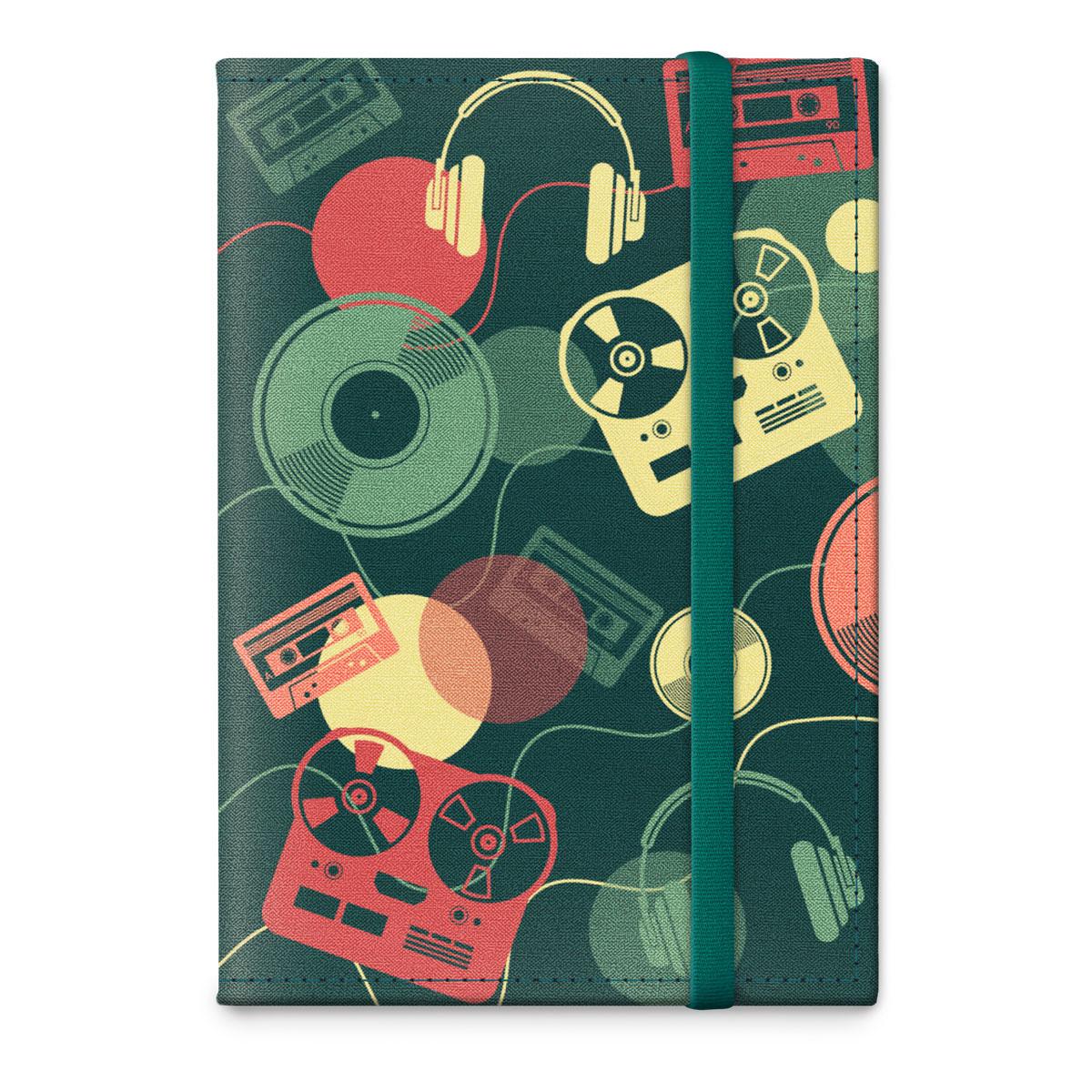 Обложка для паспорта ОРЗ-дизайн Диджей, цвет: синий, красный. Орз-0324Орз-0324Обложка на паспорт текстильная с авторским принтом