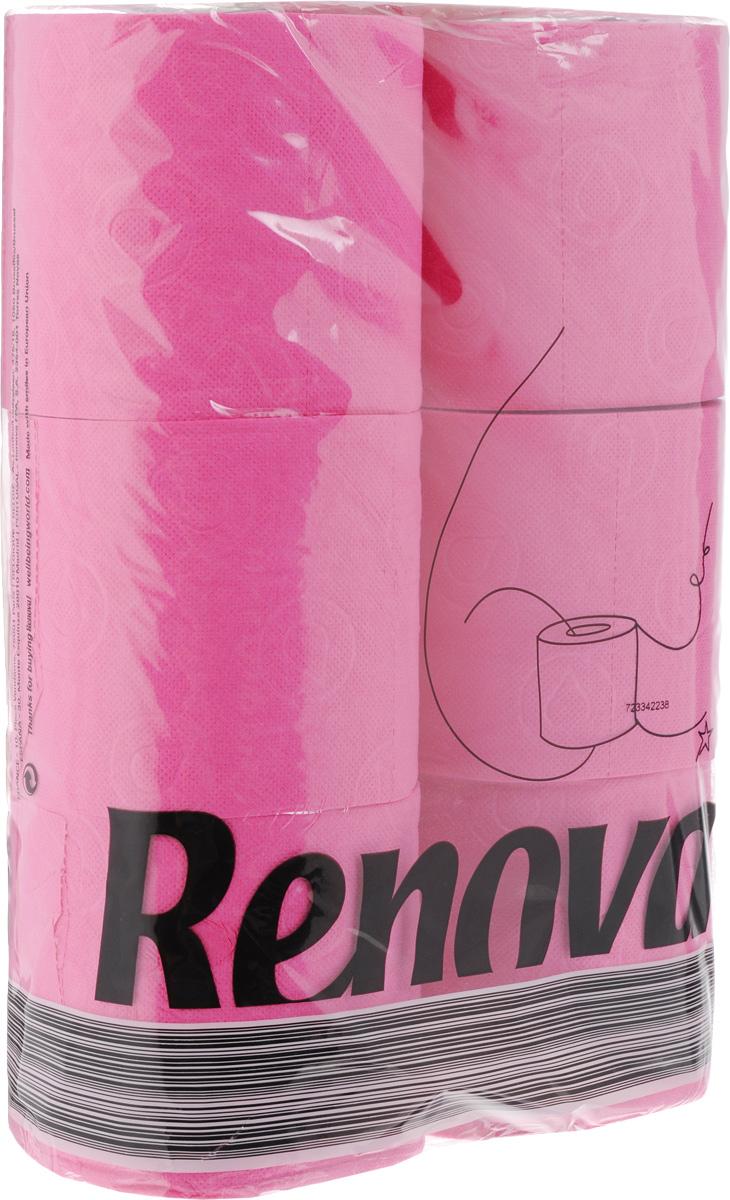 Туалетная бумага Renova Color, трехслойная, ароматизированная, цвет: фуксия, 6 рулонов11952Туалетная бумага Renova Color изготовлена по новейшей технологии из 100% ароматизированной целлюлозы с лосьоном, благодаря чему она имеет тонкий аромат, очень мягкая, нежная, но в тоже время прочная. Перфорация надежно скрепляет слои бумаги. Туалетная бумага Renova Color сочетает в себе простоту и оригинальность. Состав: 100% ароматизированная целлюлоза. Количество листов: 140 шт. Количество слоев: 3. Размер листа: 11,5 х 9,7 см. Количество рулонов: 6 шт.