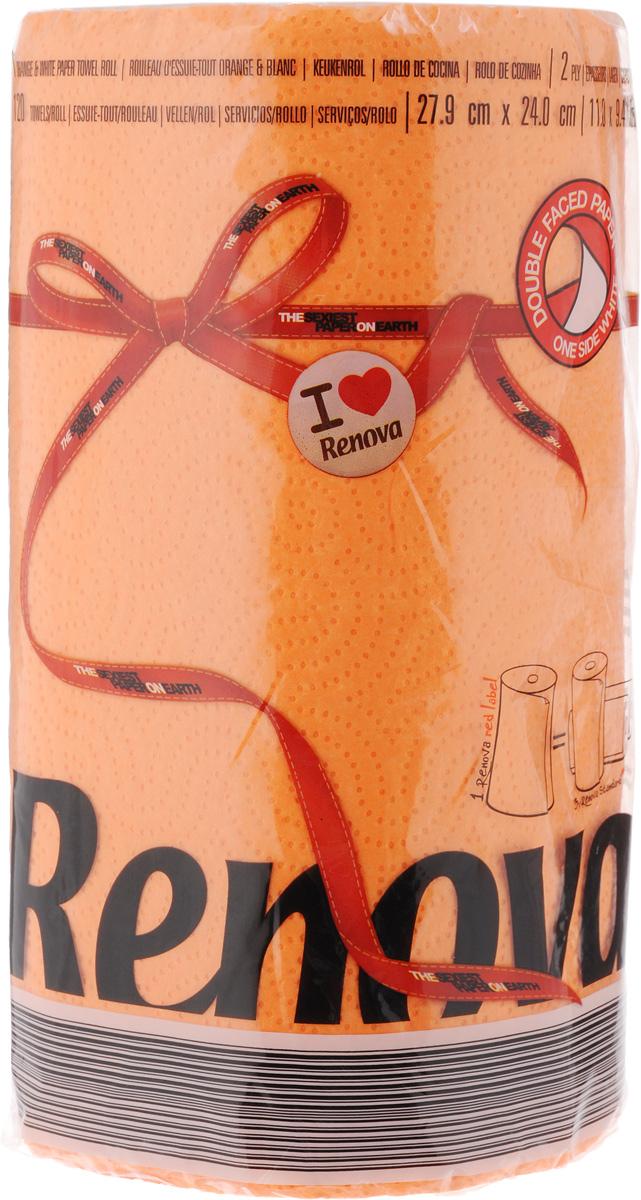 Полотенца бумажные Renova Red Label, двухслойные, цвет: оранжевый, 120 шт20893Двухслойные бумажные полотенца Renova Red Label, выполненные из натуральной целлюлозы, помогут обеспечить порядок и привнесут оригинальность в интерьер вашей кухни. Они способны поглощать большое количество жидкости, при этом оставаясь прочными и не разрываясь. Бумажные полотенца Renova Red Label совмещают в себе дизайн и текстуру, создавая возвышенную эстетику. Количество рулонов: 1 шт. Количество слоев: 2. Количество листов в рулоне: 120 шт. Размер листа: 27,9 х 24 см.