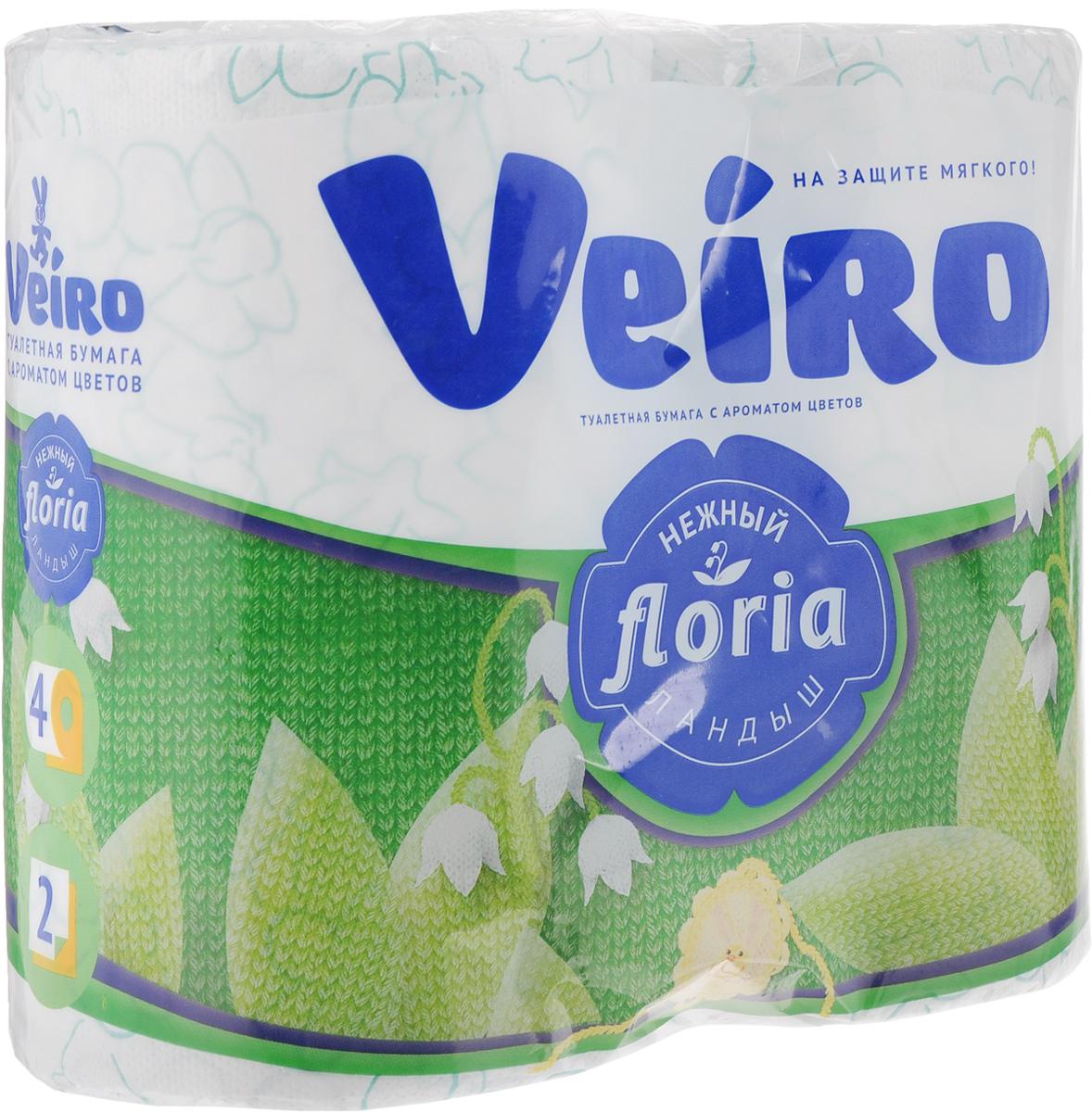 Туалетная бумага Veiro Floria. Нежный ландыш, двухслойная, ароматизированная, 4 рулона4С24А2Двухслойная туалетная бумага Veiro Floria. Нежный ландыш изготовлена по новейшей технологии из 100% ароматизированной целлюлозы, благодаря чему она имеет тонкий аромат, очень мягкая, нежная, но в тоже время прочная. Перфорация надежно скрепляет слои бумаги. Туалетная бумага Veiro Floria. Нежный ландыш сочетает в себе простоту и оригинальность. Состав: 100% ароматизированная целлюлоза. Количество слоев: 2. Размер листа: 12,5 х 9,1 см. Длина рулона: 21,9 м. Количество рулонов: 4 шт.