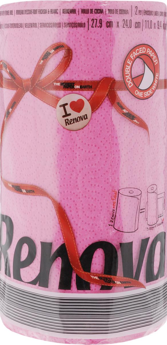 Полотенца бумажные Renova Red Label, двухслойные, цвет: фуксия, 120 шт20879Двухслойные бумажные полотенца Renova Red Label, выполненные из натуральной целлюлозы, помогут обеспечить порядок и привнесут оригинальность в интерьер вашей кухни. Они способны поглощать большое количество жидкости, при этом оставаясь прочными и не разрываясь. Бумажные полотенца Renova Red Label совмещают в себе дизайн и текстуру, создавая возвышенную эстетику. Количество рулонов: 1 шт. Количество слоев: 2. Количество листов в рулоне: 120 шт. Размер листа: 27,9 х 24 см.