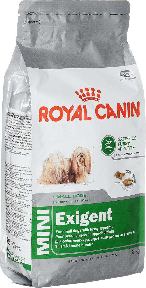 Корм сухой Royal Canin Mini Exigent, для собак мелких пород, привередливых в питании, 2 кг44242Royal Canin Mini Exigent - это полнорационный сухой корм для собак мелких размеров (вес взрослой собаки до 10 кг) в возрасте старше 10 месяцев, привередливых в питании. Высокая вкусовая привлекательность. Специальная технология изготовления крокет сочетает 2 вида текстур (хрустящую и мягкую), а также уникальные вкусовые добавки, что придется по вкусу даже самым привередливым собакам мелких размеров. Здоровая шерсть. Питает шерсть благодаря включению в состав корма серосодержащих аминокислот (метионин и цистин), жирных кислот Омега 6 и витамина А. Здоровье зубов. Помогает замедлить образование зубного налета благодаря полифосфату натрия, который связывает кальций, содержащийся в слюне. Состав: дегидратированное мясо птицы, животные жиры, предварительно обработанная пшеничная мука, рис, изолят растительных белков L.I.P., гидролизат белков животного происхождения, кукурузная мука, растительная клетчатка, свекольный жом, рыбий жир,...