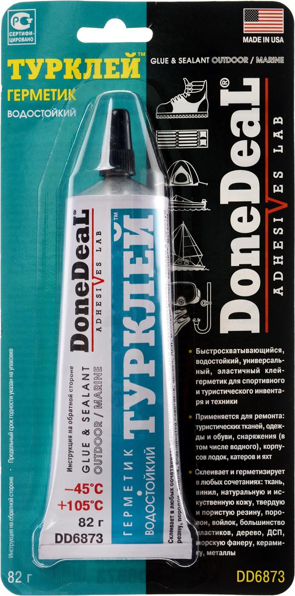Герметик Done Deal Турклей, водостойкий, 82 гDD 6873Герметик Done Deal Турклей предназначен для склейки практически всех материалов, применяемых на производстве спортинвентаря, туристического снаряжения, обуви, одежды, надувных матрасов, лодок, катеров, яхт. Благодаря эластичности и высокой адгезии практически ко всем материалам позволяет надежно соединить разнородные материалы с разными физическими свойствами (стекло - резина, пластик - дерево). Прекрасно ремонтирует прорезиненную ткань, проникая в структуру ткани и образуя прочный, эластичный, влагонепроницаемый ремонтный слой. Выдерживает ударные нагрузки, вибрацию, перепады температуры, воздействие технических жидкостей, слабых кислот и щелочей. Широко используется для склейки и герметизации электро- и прочих соединений яхт и катеров, фиксации конструктивных элементов, обивок, крепежа. С помощью этого герметика можно приклеить элементы, для фиксации которых традиционно используется крепеж (например, крючок для одежды на пластиковую панель салона...