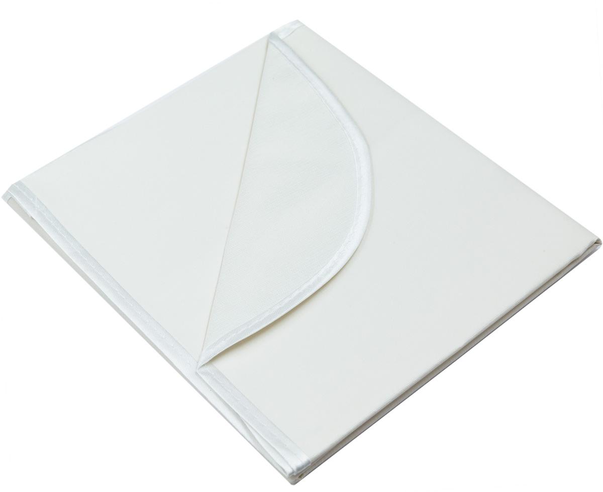 Колорит Клеенка подкладная с окантовкой цвет белый 50 х 70 см0050_белыйКлеенка подкладная с ПВХ покрытием Колорит, окантованная по краям тесьмой, предназначена для санитарно-гигиенических целей в качестве подкладного материала в медицинской практике и в домашних условиях. ПВХ покрытие влагонепроницаемо и обладает эффектом теплоотдачи, что исключает эффект холодного прикосновения. Микропористая структура поливинилхлоридного покрытия способствует профилактике пролежней и трофических проявлений. Клеенка окантована текстильной тесьмой, что помогает надолго сохранить опрятный внешний вид.