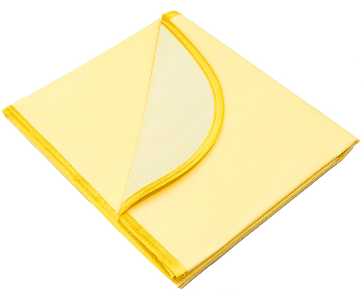 Колорит Клеенка подкладная с окантовкой цвет желтый 50 х 70 см0050_желтыйКлеенка подкладная с ПВХ покрытием Колорит, окантованная по краям тесьмой, предназначена для санитарно-гигиенических целей в качестве подкладного материала в медицинской практике и в домашних условиях. ПВХ покрытие влагонепроницаемо и обладает эффектом теплоотдачи, что исключает эффект холодного прикосновения. Микропористая структура поливинилхлоридного покрытия способствует профилактике пролежней и трофических проявлений. Клеенка окантована текстильной тесьмой, что помогает надолго сохранить опрятный внешний вид.