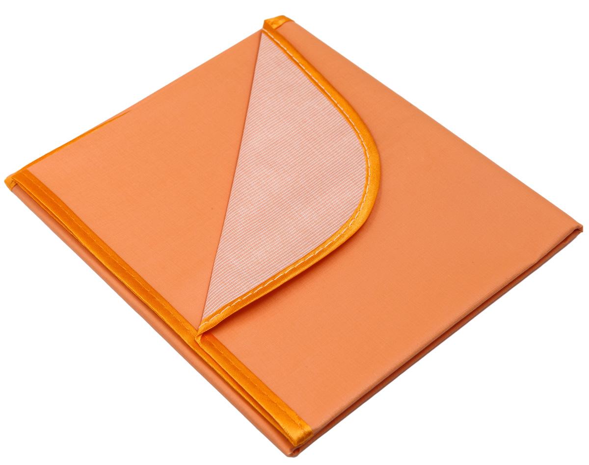 Колорит Клеенка подкладная с окантовкой цвет оранжевый 50 х 70 см0050_оранжевыйКлеенка подкладная с ПВХ покрытием Колорит, окантованная по краям тесьмой, предназначена для санитарно-гигиенических целей в качестве подкладного материала в медицинской практике и в домашних условиях. ПВХ покрытие влагонепроницаемо и обладает эффектом теплоотдачи, что исключает эффект холодного прикосновения. Микропористая структура поливинилхлоридного покрытия способствует профилактике пролежней и трофических проявлений. Клеенка окантована текстильной тесьмой, что помогает надолго сохранить опрятный внешний вид.