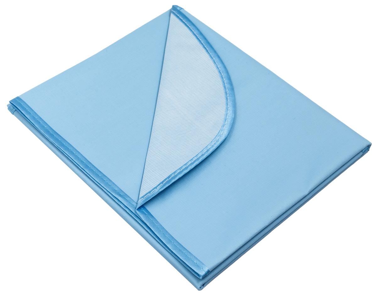 Колорит Клеенка подкладная с окантовкой цвет голубой 50 х 70 см0050_голубойКлеенка подкладная с ПВХ покрытием Колорит, окантованная по краям тесьмой, предназначена для санитарно-гигиенических целей в качестве подкладного материала в медицинской практике и в домашних условиях. ПВХ покрытие влагонепроницаемо и обладает эффектом теплоотдачи, что исключает эффект холодного прикосновения. Микропористая структура поливинилхлоридного покрытия способствует профилактике пролежней и трофических проявлений. Клеенка окантована текстильной тесьмой, что помогает надолго сохранить опрятный внешний вид.